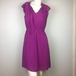 Old Navy Purple Swiss Dot Ruffle Sleeve Dress